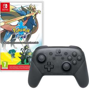 Pack Pokemon Epee + Pass d'extension sur Nintendo Switch + Manette Switch Pro