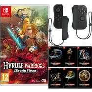 Pack Hyrule Warriors Switch + Manette iiCon noire avec dragonne + 6 Cartes postales