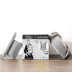 Porte bébé physio hoodie carrier + pack booster naissance de love radius