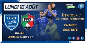 Entrée Gratuite pour le match de Foot FCVB vs Sedan - Villefranche (69)