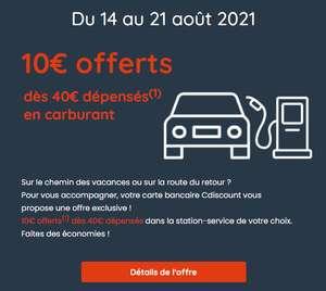 [Carte Cdiscount & FloaBank] 10€ offert en bon d'achat Cdiscount dès 40€ d'achat en carburant