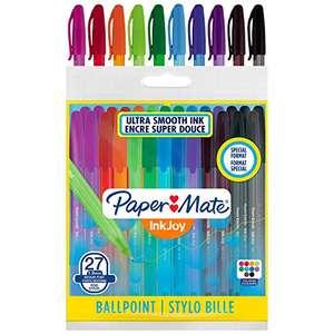 Lot de 27 stylos à bille Paper Mate Inkjoy - Couleurs assorties