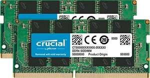 Kit Mémoire RAM Crucial CT2K8G4SFRA32A 16Go (2x8Go) - DDR4, 3200 MT/s, PC4-25600, SODIMM, 260 broches