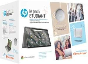"Pack HP X360 : PC Portable 14"" Chromebook HP 14-ca0004nf - Écran tactile, i3-10110U, 64 Go de stockage, 8 Go de Ram + Etui + Nest Mini"
