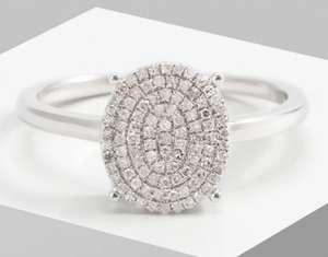 Bague en or blanc & en diamants (vendeur tiers)