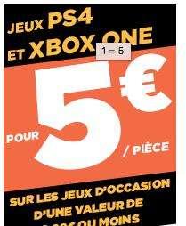 Sélection de jeux PS4 et Xbox One d'occasion à 5€