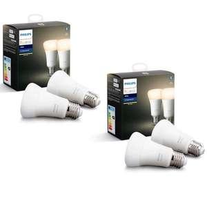 Pack de 4 ampoules connectées LED Philips Hue Single Bulb E27 White