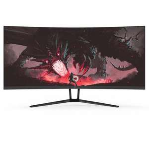 """Ecran PC 34"""" Fox Spirit PGM340 - UWQHD, Dalle VA Incurvée, 100 Hz, 4 ms, HDMI (x3), DisplayPort"""