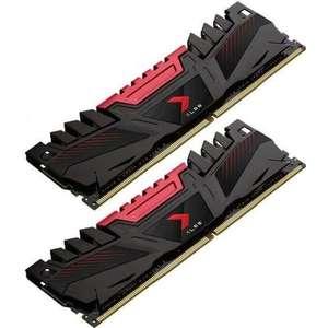 Kit Mémoire RAM PNY XLR8 (MD16GK2D4320016AXR) - 16 Go (2x8 Go), DDR4, 3200 MHz, CAS 16