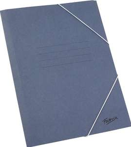 Lot de 25 chemises classiques - Format Folio avec rabat couleur bleue