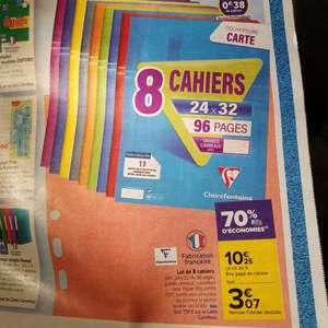 Lot de 8 cahiers Claire Fontaine - 96 Pages (Via 7.18€ sur la carte de fidélité)