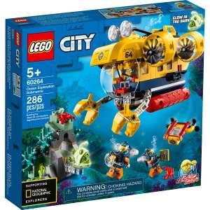 Jeu de construction Lego City : Le sous-marin d'exploration 60264 + Activité loisir enfant offerte (via ODR)