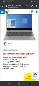 """PC Portable 15.6"""" Lenovo Ideapad IP 3 15IIL05 - FHD, i5-1035G1, 8 Go RAM, 512 Go SSD, Windows 10"""