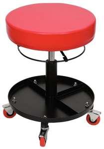 Tabouret sur roulette réglable en hauteur KS Tools 500.8030 - rouge