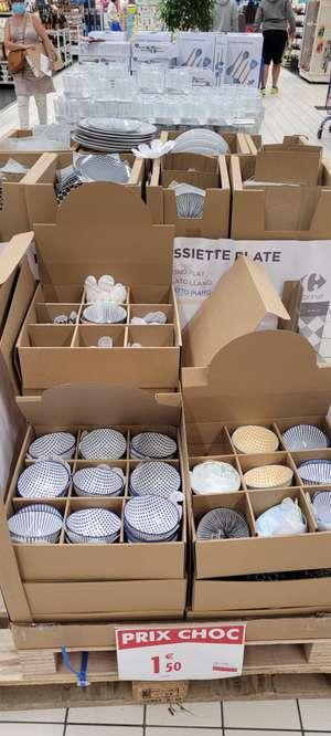 Assiettes et bols en porcelaine en promotion - Ex: Grandes assiettes 26,5cm - Montesson (78)