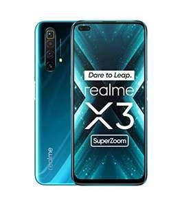 "Smartphone 6,6"" Realme X3 Super Zoom - Full HD+ LCD 120 Hz, Snapdragon 855+, 8 Go RAM, 128 Go ROM, charge rapide 30W, 4200 mAh, Bleu"