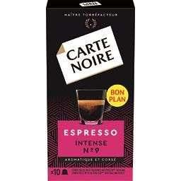 3 boîtes de 10 capsules de café expresso Carte Noire Nespresso