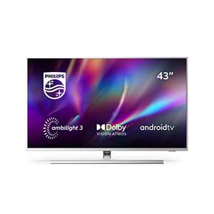 """TV 43"""" Philips 43PUS8505/12 - 4K UHD, HDR10+, Dolby Vision & Atmos, Ambilight 3 côtés, Android TV"""
