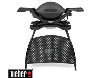 Barbecue électrique Weber Q 1400 Stand Electric Grill, 2200W, 2 grilles