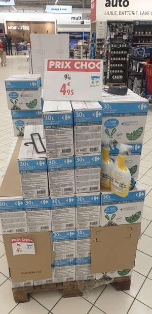 Lot de 200 sacs poubelle (2 X 100) de 30L - Carré Sénart Lieusaint (77)