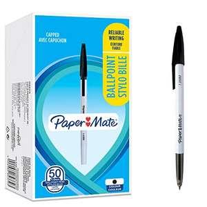 Lot de 50 stylos à bille Paper Mate 045 - Pointe fine (0,7 mm), Encre noire