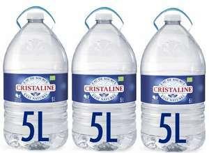 Lot de 3 Bonbonnes d'eau de source naturelle Cristaline - 3 x 5 L