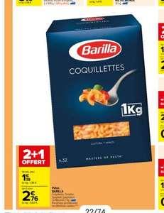 Lot de 3 paquets de 1 kg de pâtes Barilla - plusieurs variétés (3 × 1 kg)
