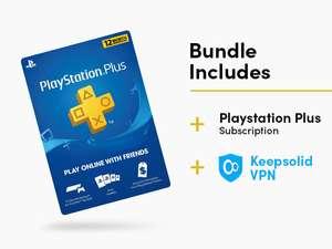 Abonnement de 12 mois au PlayStation Plus (dématérialisé - Compte US) + VPN Unlimited: Lifetime Subscription (5 PC)