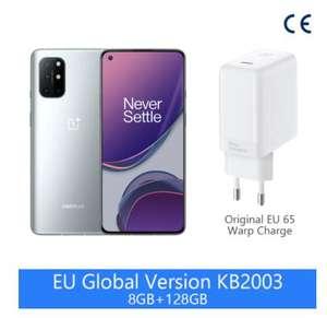 "Smartphone 6.55"" OnePlus 8T 5G - Full HD+ AMOLED, SnapDragon 865, 8 Go RAM, 128 Go, Gris (342€ avec le code FRAUG45) - Entrepôt France"
