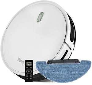 Robot Aspirateur Venga - Laveur de sol, Facile à Utiliser, 6 Modes de Nettoyage, Silencieux, Blanc, VG RVC 3000
