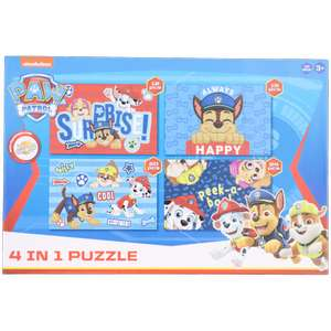 Puzzle 4 En 1 (Divers modèles : Pat'Patrouille ou Peppa Pig)