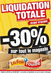 -30% sur tout le magasin - Poitiers Saint Benoit (86)