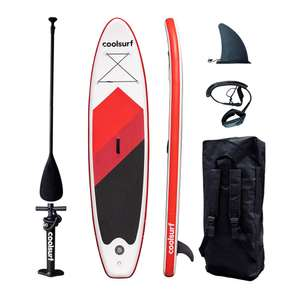 Paddle Gonflable Cool Surf Red Édition Sup 10'4 + Accessoires Rouge/Blanc