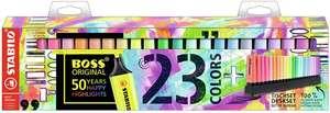 Assortiment de 23 surligneurs Stabilo Boss Original (via 8.06€ sur la carte)