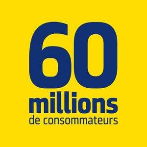 Abonnement de 12 Mois au Magazine 60 Millions de Consommateurs + 3 Hors-séries thématiques + Mook +Service d'information juridique