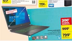 """PC Portable 15"""" HP Pavilion Gaming 15-ec1188nf - Ryzen 5 4600H, 16 Go RAM, 512 Go SSD, GTX 1650 Ti + Souris filaire et tapis de souris"""
