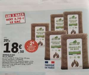 Lot de 5 Sacs Granulés de bois Pellex EN+ A1 (5x 15kg)
