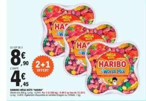 Lot de 3 boites de bonbons Haribo World Mix - 3 x 850gr