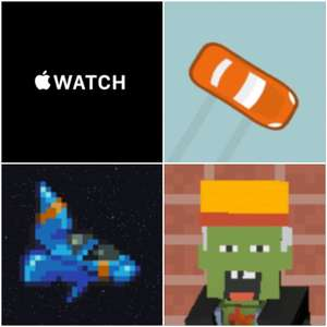 Sélection de 3 Jeux gratuits sur Apple Watch & iOS - Watch Wheels, Z Room & Revenge Space