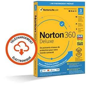 Logiciel anti-virus Norton 360 Deluxe 2021 - 1 an, 3 appareils, 25 Go en Cloud (dématérialisé)