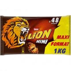Maxi Pack de 48 Barres chocolatées Lion (1kg)