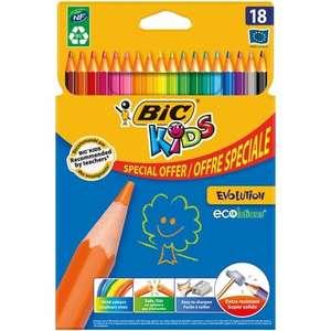 Etui de 18 crayons de couleur BIC Kids Evolution (Via 0.72€ sur la carte de fidélité)