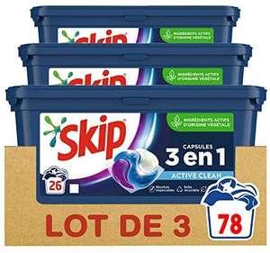 3 Paquets de Lessive Skip Ultimate - 3 x 26 capsules