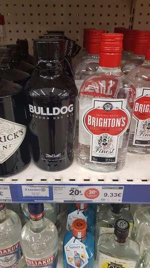 Gin London Dry Bulldog 70 cl (via 2€ de remise immédiate) - Levallois Perret (92) / Honfleur (14)
