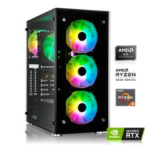 PC Gaming - AMD Ryzen 5 3600 6x3.60 GHz, 16Go de Ram DDR4, RTX 3060 Ti 8GB, 480Go SSD