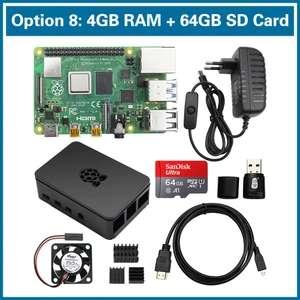 Kit complet Raspberry Pi 4B - 4 Go RAM avec accessoires + carte mémoire microSD SanDisk 64 Go (71,24€ avec le code RENTREE07)