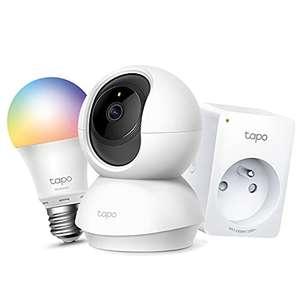Pack Tapo : Caméra Surveillance WiFi C200 + Ampoule connectée RGB L530E + Prise connectée P100