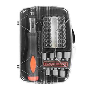 Kit de Tournevis à cliquet avec 40 accessoires Black + Decker A7062-XJ