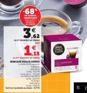 Lot de 2 boites de 16 capsules de café Nescafé Dolce Gusto