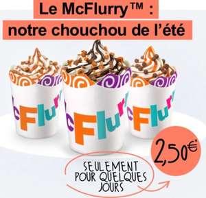 [McDo+] Glace McFlurry à 2.50€ (Paris Austerlitz 75005)